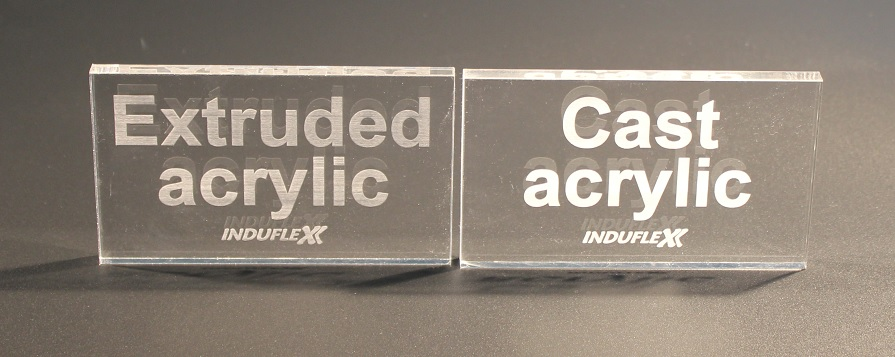 Cast extruded laser engraved acrylic